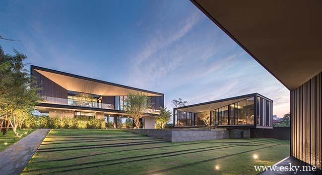泰国曼谷的无边设计房子-时光静好
